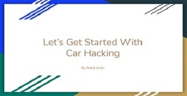 Let's Get start with Car Hacking